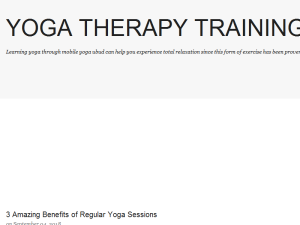 Yoga Therapy Training Blogging Fusion Blog Directory