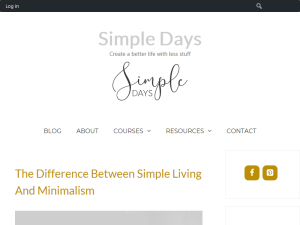 Simple Days Blogging Fusion Blog Directory