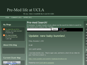 Pre-Med life at UCLA Blogging Fusion Blog Directory