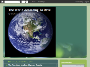 The World According To Dave Blogging Fusion Blog Directory