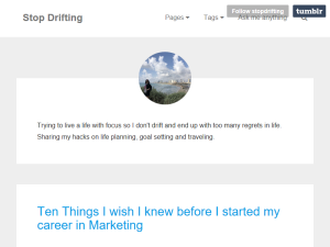 Stop Drifting Blogging Fusion Blog Directory