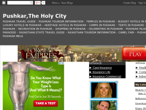 Pushkar, The Holy City Blogging Fusion Blog Directory