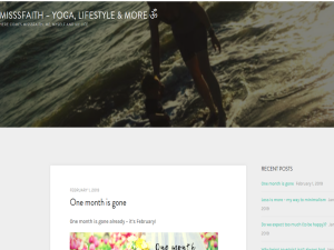 MISSSFAITH YOGA, LIFESTYLE & MORE Blogging Fusion Blog Directory