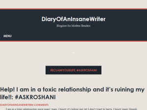 DiaryOfAnInsaneWriter - Blogzine For Modern Readers Blogging Fusion Blog Directory