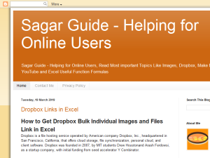 Sagar Guide Blogging Fusion Blog Directory