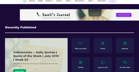 Swati's Journal - Short Blogging Fusion Blog Directory