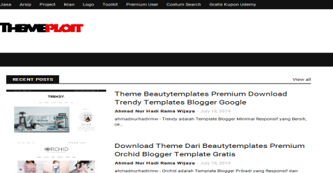 Themeploit Blogging Fusion Blog Directory