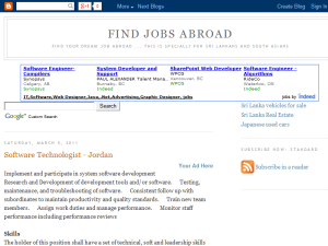 Jobs Abroad Blogging Fusion Blog Directory