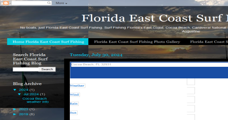 Florida East Coast Surf Fishing Blogging Fusion Blog Directory