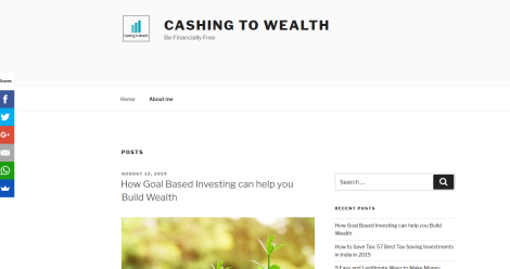 Cashing To Wealth Blogging Fusion Blog Directory