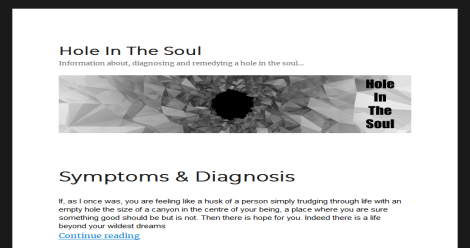 Hole In The Soul Blogging Fusion Blog Directory