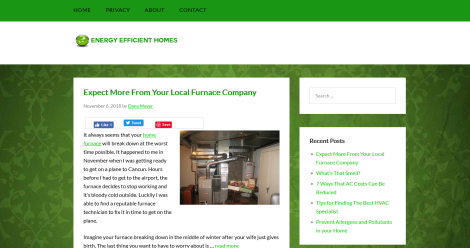 Energy Efficient Homes Blog Blogging Fusion Blog Directory