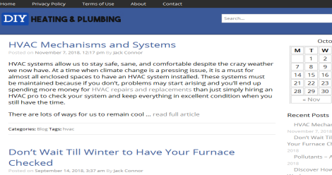 Connor Heating & Plumbing Blogging Fusion Blog Directory