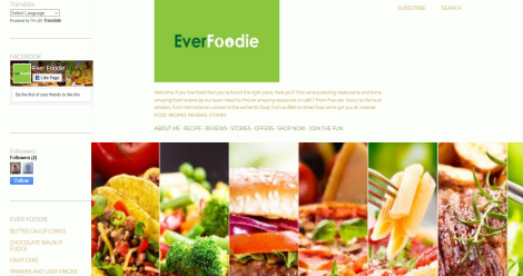 EVER FOODIE Blogging Fusion Blog Directory