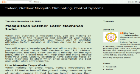 Mosquito Elimination, Control, Blogging Fusion Blog Directory