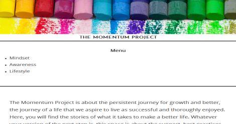 The Momentum Project Blogging Fusion Blog Directory