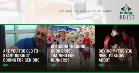 Be Happy Boxing Blogging Fusion Blog Directory