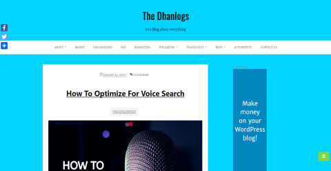 The Dhanlogs Blogging Fusion Blog Directory