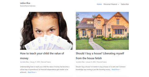 Leblon Blue - Personal finance Blogging Fusion Blog Directory