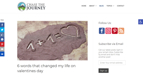 Chase the Journey Blogging Fusion Blog Directory