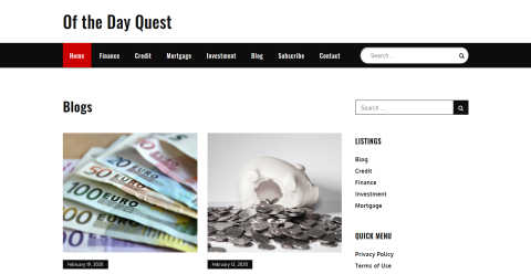 Of the Day Quest- Latest Blogging Fusion Blog Directory