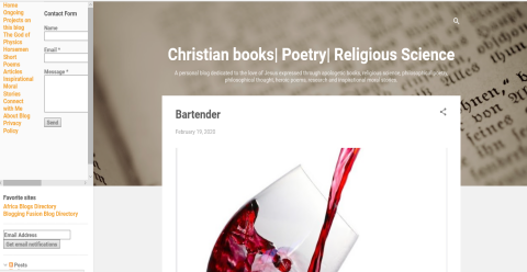 Christian books | Poetry | Blogging Fusion Blog Directory