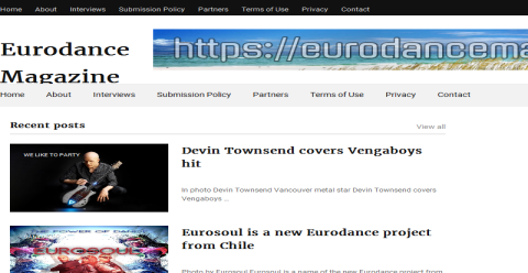 Eurodance Magazine Blogging Fusion Blog Directory