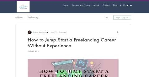 How to Jump-Start a Freelancing Career Without Experience Blogging Fusion Blog Directory