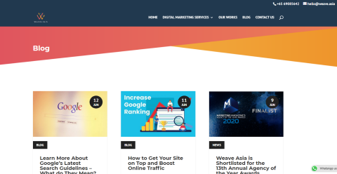 Weave Asia - Digital Marketing Agency in Asia Blogging Fusion Blog Directory