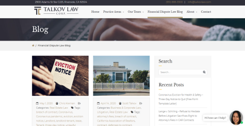 Talkov Law Real Estate & Blogging Fusion Blog Directory