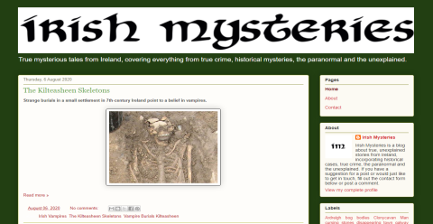 Irish Mysteries Blogging Fusion Blog Directory
