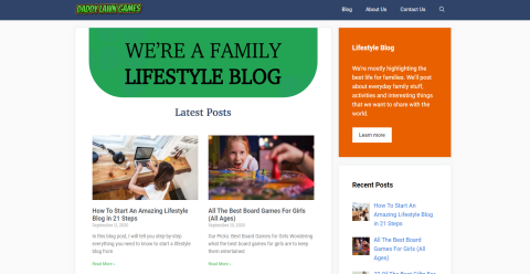 Daddy Lawn Games Blogging Fusion Blog Directory