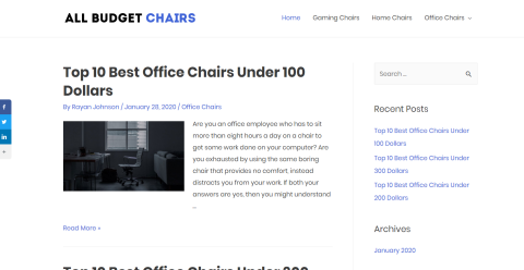 All Budget Chairs Blogging Fusion Blog Directory