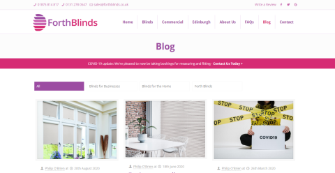 Forth Blinds - Local Blinds Blogging Fusion Blog Directory