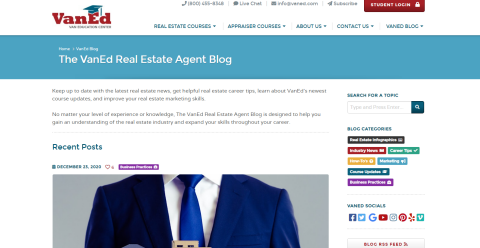The VanEd Real Estate Agent Blogging Fusion Blog Directory