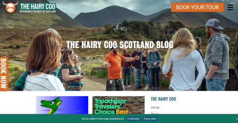 The Hairy Coo Scotland Blog Blogging Fusion Blog Directory