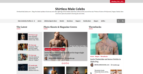 Shirtless Male Celeb - Blogging Fusion Blog Directory