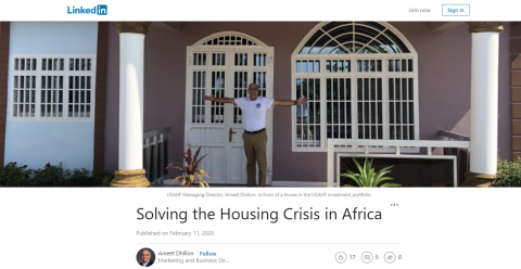 Solving the Housing Crisis in Africa Blogging Fusion Blog Directory