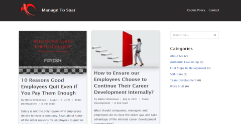 Manage to Soar Blogging Fusion Blog Directory