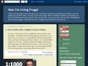 How I'm Living Frugal Blogging Fusion Blog Directory