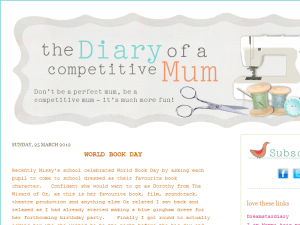 the diary of a Competitive Mum Blogging Fusion Blog Directory