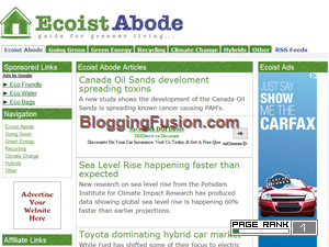 The Ecoist Abode Blogging Fusion Blog Directory
