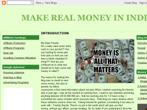 MAKE REAL MONEY IN INDIA Blogging Fusion Blog Directory