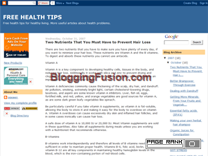 FREE HEALTH TIPS Blogging Fusion Blog Directory