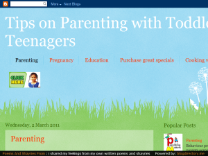 Parenting with Toddlers to Teenagers Blogging Fusion Blog Directory